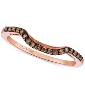 Le Vian Chocolatier® Chocolate Diamond (1/6 Ct. T.w.) Curved Ring