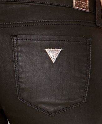 Guess jeans skinny zipper pocket silicone rinse wash