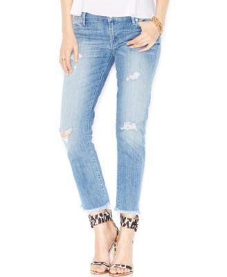 Kiind Of Distressed Cropped Skinny Jeans, Weekend Wash - Jeans ...