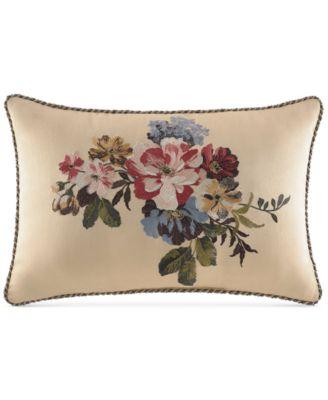 """CLOSEOUT! Croscill Cecilia 18"""" x 12"""" Boudoir Decorative Pillow"""