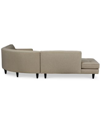 Shayla 3-Piece Curved Sectional