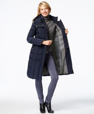 Cole Haan Hooded Puffer Down Coat - Coats - Women - Macy's