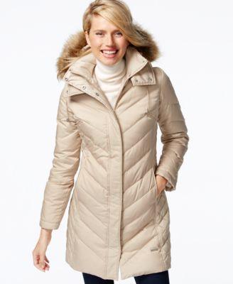 Lauren Ralph Lauren Petite Faux-Fur Quilted Puffer Coat - Coats ...