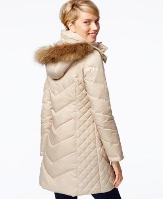 Kenneth Cole Petite Faux-Fur-Hood Puffer Down Coat - Coats - Women ...