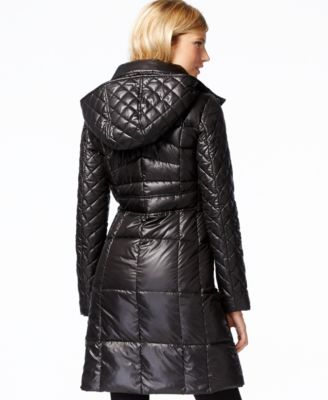 Marc New York Hooded Quilted Down Coat - Coats - Women - Macy's
