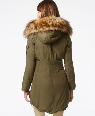 MICHAEL Michael Kors Faux-Fur-Hood Down Parka - Coats - Women - Macy's