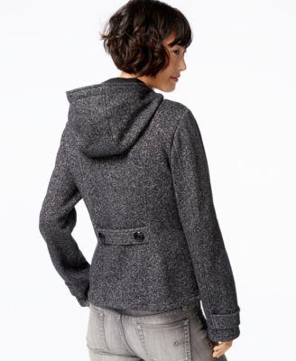 Sebby Hooded Toggle-Front Peacoat - Coats - Women - Macy's