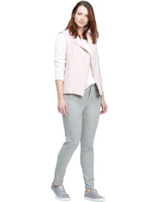 Violeta by Mango Plus Size Moto Skinny Jeans, Colored Wash - Jeans ...