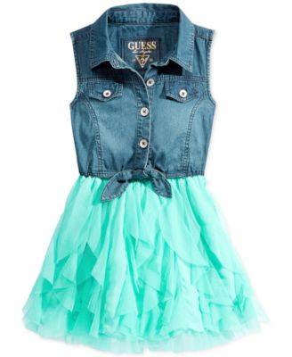 GUESS Little Girls' Denim Dress - Kids - Macy's