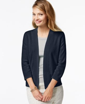 Charter Club Cashmere Open-Front Cardigan - Sweaters - Women - Macy's
