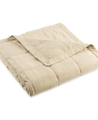 Charter Club Microfiber Down Alternative Full/Queen Blanket, Only at Macy's