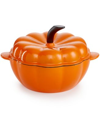 Martha Stewart Collection Enameled Cast Iron 2-Qt. Pumpkin Casserole, Only at Macy's