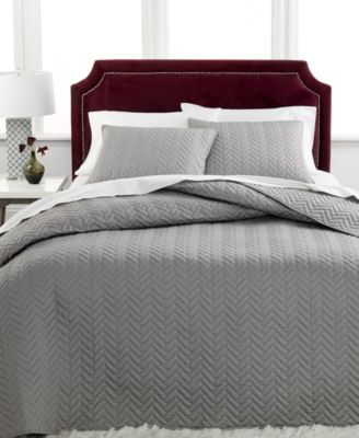 Charter Club Damask Collection Herringbone Pima Cotton 3-Pc Queen Quilted Bedspread Set, Only at Macy's