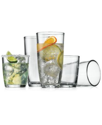 The Cellar Logan Collection 16-Pc. Glass Drinkware Set