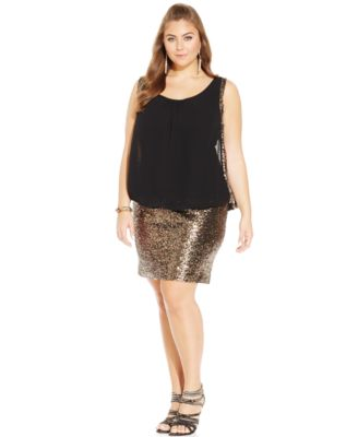 City Chic Plus Size Sequined Bodycon Party Dress - Dresses - Plus ...