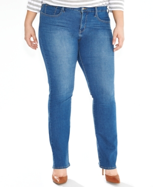 Levi's Plus Size 314 Shaping Straight-Leg Jeans, Worn Blue Wash