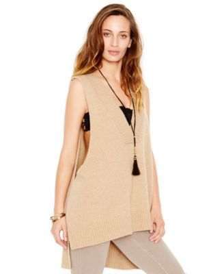 Free People Wool-Blend Tunic Sweater Vest - Women's Brands - Women ...