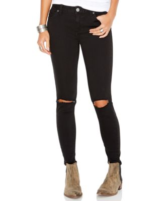 Free People Destroyed Skinny Jeans, Josie Wash - Jeans - Women ...