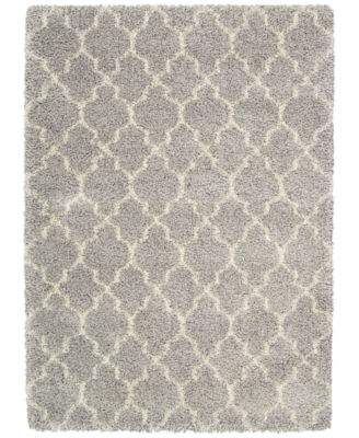 Kenneth Mink Plush Shag Lattice Ash 3 11 X 5 Area