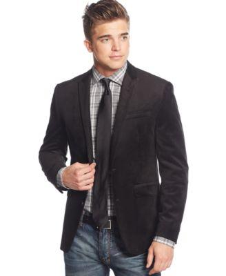 Bar III Black Velvet Slim-Fit Sport Coat - Blazers & Sport Coats ...