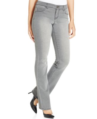 Style & Co. Rhinestone-Pocket Bootcut-Leg Jeans, Whisper Grey ...