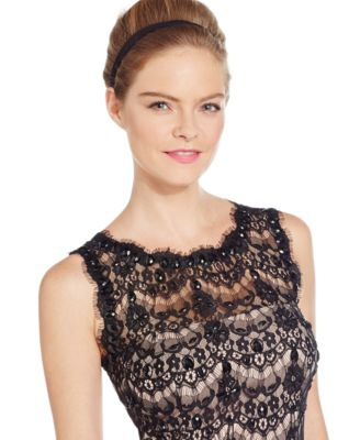Betsy and adam illusion lace dress