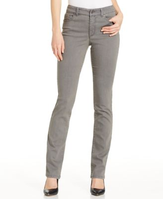 Charter Club Lexington Straight Leg Jeans, Grey Wash - Jeans ...