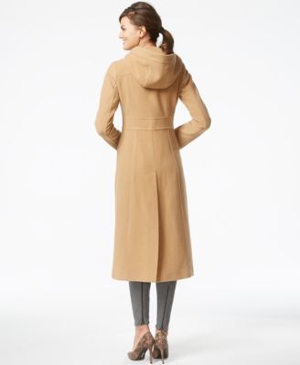 Anne Klein Petite Wool Hooded Walker Coat - Coats - Women - Macy's