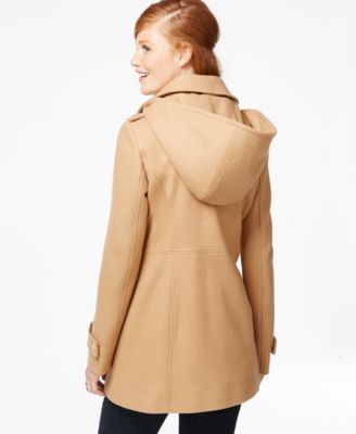 MICHAEL Michael Kors Petite Hooded A-Line Coat - Coats - Women ...