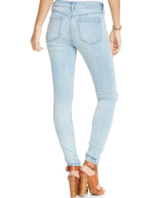 Jessica Simpson Kiss Me Ripped Super Skinny Jeans - Jeans ...