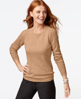 Charter Club Petite Cashmere Crew-Neck Sweater In 14 Colors, Only ...