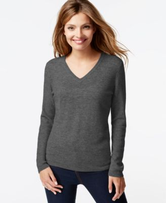 Charter Club Petite Cashmere Crew-Neck Sweater In 10 Colors, Only ...