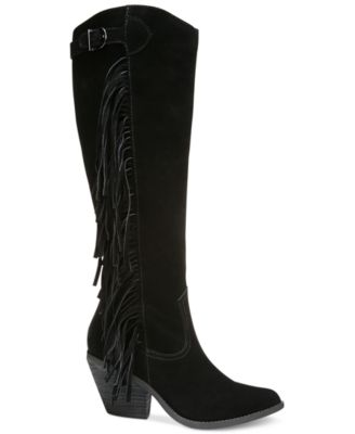 Carlos by Carlos Santana Lever Fringe Tall Boots - Boots - Shoes ...