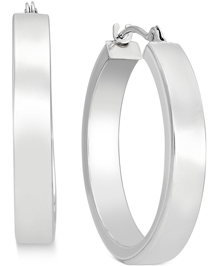 Macy's - Bold Hoop Earrings in 10k White Gold