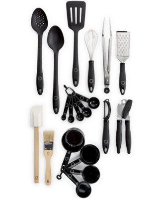 martha stewart collection 20-pc. kitchen utensil set with crock