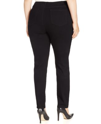 Charter Club Plus Size Pull-On Skinny Jeans Saturated Black Wash