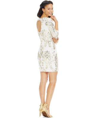 B Darlin Juniors&39 Sequin Scrollwork Cutout-Back Dress - Dresses ...