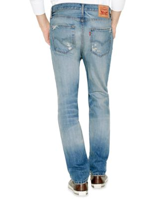 Levi's 514 Straight-Leg Ripped Jeans, Toto Wash - Jeans - Men - Macy's
