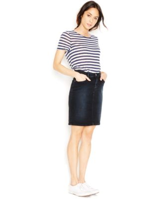 Levi's® Denim Pencil Skirt, After Dusk Wash - Skirts - Juniors ...