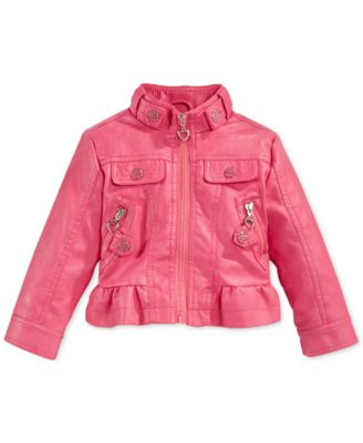 Urban Republic Girls' Leather Moto Peplum Jacket - Kids & Baby ...