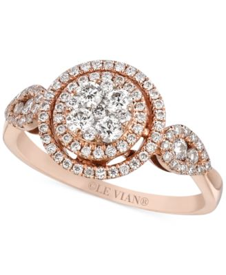 Le Vian Vanilla Diamond Heart Ring 5 8 ct t w in 14k Rose