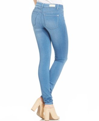 Light wash skinny jeans juniors
