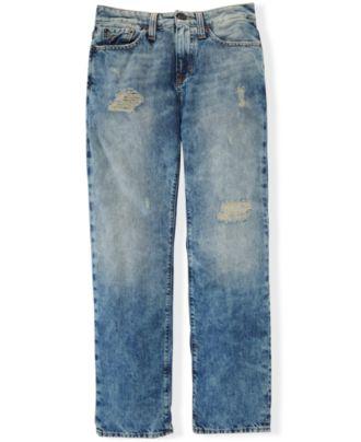 Ralph Lauren Boys' Slim-Fit Distressed Denim Jeans