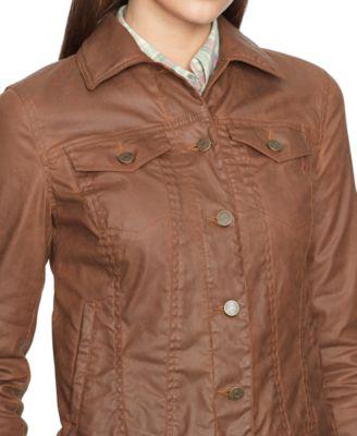 Lauren Jeans Co. Coated Denim Jacket Alpine Brown Wash - Jackets