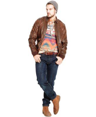 Polo Ralph Lauren Coated Bordon Flight Jacket - Coats & Jackets ...