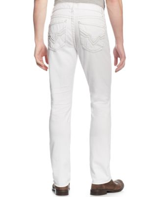 INC International Concepts Faxon Slim-Fit White Jeans, Only at ...