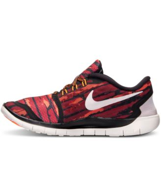 nike boys free 5.0 print running sneakers from finish line