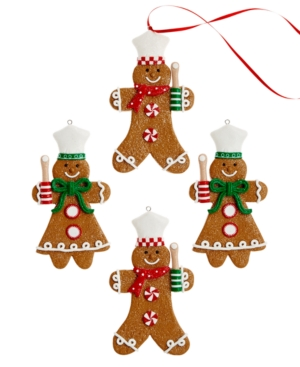 Holiday Lane Set of 4 Gingerbread Ornaments