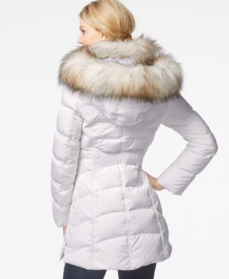 Laundry by Shelli Segal Faux-Fur-Hood Puffer Down Coat - Coats ...