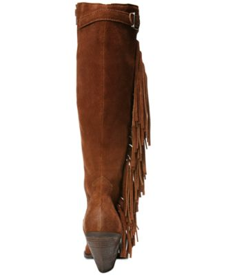 Carlos by Carlos Santana Lever Fringe Tall Suede Boots - Women's ...